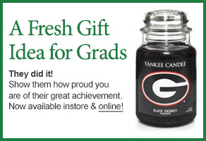 University of Georgia College Logo Candle