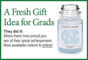 University of North Carolina College Logo Candle