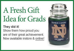 University of Notre Dame College Logo Candle