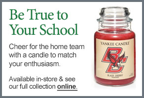 Boston College College Logo Candle