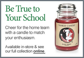 Florida State University College Logo Candle