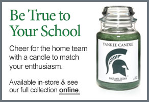 Michigan State University College Logo Candle