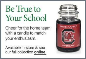 University of South Carolina College Logo Candle