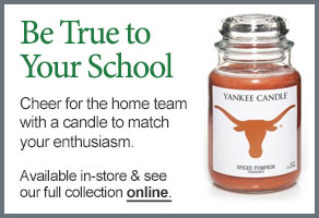 University of Texas College Logo Candle