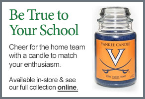 University of Virginia College Logo Candle