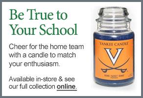 University of Virginia College Logo Candle